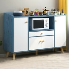 Simple Wooden Sideboard Storage Cabinet Cupboards Multi-Function Kitchen Home Us