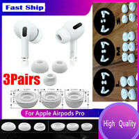 6Pcs Noise-proof Silicone Ear Tips Buds Cover for Apple Airpods Pro Headset hi