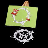 Stanzschablone Kranz Libelle Hochzeit Weihnachts Oster Geburstag Karte Album DIY