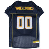 Michigan Wolverines NCAA Pets First Licensed Dog Pet Mesh Jersey XS-2XL NWT