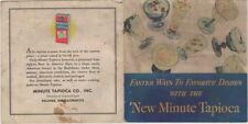 Vintage Minute Tapioca Recipes, Minute Tapioca Co., General Foods  1934