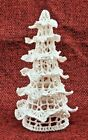 "Vintage 4 3/4"" Crochet Doily-Style Christmas Tree"