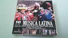 """CD """"MUSICA LATINA"""" BOX SET 10 CD BOX SET COMO NUEVO CUBA MEXICO PUERTO RICO"""