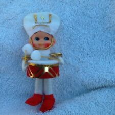 Pixie Elf Drummer Boy Christmas Ornament Figure from Japan Napcoware