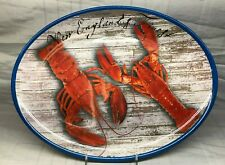 """Melamine Lobster Serving Platter Oval Tray Plate New 16"""" New England Galleware"""