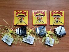(3) Strike King Promo 3/8oz Buzz Baits, Lot of 3 CHARTREUSE Fishing Lures
