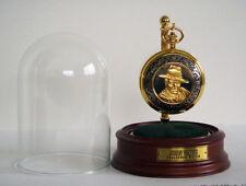 Franklin Mint John Wayne Pocket Watch w/Glass Display Dome
