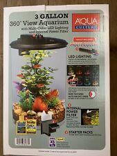 Aquarium Tank View 360 Power Pump Filter LED Lighting AAA Batteries 3-Gallon New