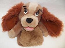 "Lady Tramp Disney 9"" Plush Hand Puppet Dog Stuffed Animal Scratched Eye AS IS"