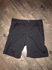 Mens Lululemon Black Ck Dri Fit Polyester Summer Golf Flat Front Shorts Size 38