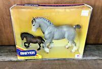 Breyer 3170 Circus Extravaganza 2 Piece Blue Roan Draft Horse Gift Set NIB