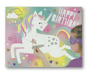 Unicorn Party Childs Birthday Party Game Pin Stick the Horn on the Unicorn Game