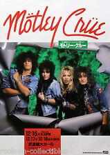 Motley Crue 1987 Japan Tour Concert Poster Nikki Sixx Tommy Lee Vince Neil Rare