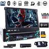 "Single 1Din 7"" HD Touch Screen Indash Car Stereo DVD/CD Player GPS BT iPod Radio"