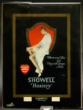 SEXY VINTAGE 1929 STORE AD FOR SHOWELL HOSIERY WHERE EVER YOU GO THEY WILL SHOW!