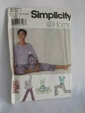 Simplicity 5327 sewing pattern, womens yoga clothes sizes 12, 14, 16, 18