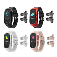 N8 2 in 1 Smart Watch Wristband with Bluetooth 5.0 Earbuds Wireless Headphones