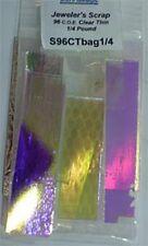 96 COE 1/4lb. Thin 2mm Thickness Clear Dichroic Scrap Bag by Austin Thin Films