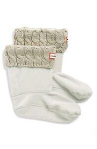 Hunter 240340 Womens 6 Stitch Cable Short Boot Socks Greige Size Medium