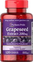 Puritan's Pride Grapeseed Extract 200 mg - 120 Capsules (50% Polyphenols) grape