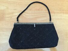 Vintage Japan Made Beaded Clutch Purse Bag with Handle