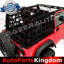 Off Road 4 Door Black Cargo Net System Restraint Net For 97-06 Jeep TJ Wrangler