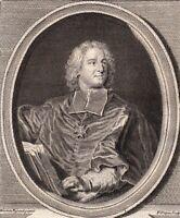 Portrait XVIIIe Melchior De Polignac Cardinal Diplomate Prélat Cellemare
