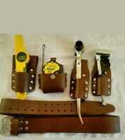 SCAFFOLDING  LEATHER Tool  BELT Set With Full Tools Set ( REAL  SCAFFOLDER DEAL