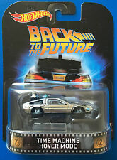 2017 Hot Wheels Retro Entertainment BACK TO THE FUTURE TIME MACHINE HOVER MODE!