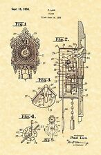 Patent Print - Ornate Cuckoo Clock by Paul Lux 1936 - Ready To Be Framed!