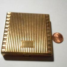 Vintage Bourjois gold tone powder make up compact with mirror, no pad,