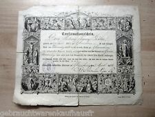 Conformationschein von 2.April 1896 der Kirche Glauchau mit Stempel Superintende