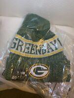 NEW-GREEN BAY PACKERS NFL-New Era Winter cuffed Beanie Knit Cap/Hat-Pom