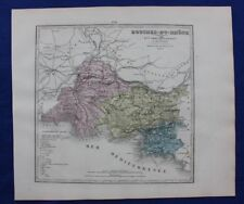 Original antique map BOUCHES DU RHONE, FRANCE, MARSEILLE, Le Vasseur, 1878