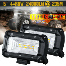 "6""  CREE 24000LM Flood LED Bar Work Light Pods Driving Reverse Off road ATV 4WD"