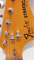 2 Premium LOW PROFILE roller string trees for Fender Strat / Tele & more!