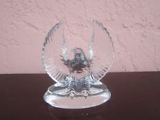 Clear glass american eagle with wings spread figurine for sale by owner!!!