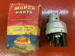 1949-55 CHRYSLER DODGE PLYMOUTH DESOTO IGNITION SWITCH MOPAR 1495886 NOS