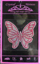 """Crystal Heiress Butterfly Pink Sticker Decal Laptop Locker Car Scrapbook 4""""x4"""""""
