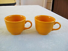 """Set Of 2 Fiesta HLC Banded 2 3/4"""" Tangerine Cups USA"""