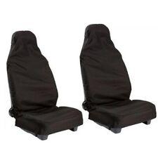 Universal Heavy Duty Front Seat Covers Car Van Black Waterproof Protectors 2Pcs