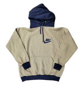 Rare Vintage 70's Nike Hoodie Size Medium Beige Pullover Sweatshirt Men's