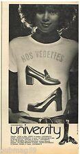 Publicité Advertising 1972 Les Chaussures escarpins Bottes University