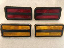 70-81 Trans Am Side Marker Fender Lights Lenses Bezels Quarter Firebird NEW SEAL