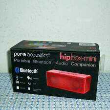 NEW PURE ACOUSTICS HIPBOX-MINI BLUETOOTH PORTABLE COMPANION SPEAKER W/ AUX IN