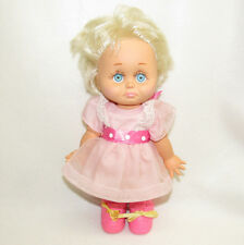 VTG 1990 GALOOB BABY FACE DOLL #6 DRESSED SO SORRY SARAH