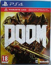 Doom. Paquete UAC. Ps4. Fisico. Pal Es