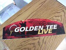 Golden Tee Live Arcade Markee Header Marquee Graphics 2008