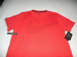 "Nike XL t-shirt ""Breathe"" Large Logo Training DriFit Standard Fit XL Red"