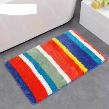 Modern Bath Mat Striped Quatrefoil Carpet Mat Door Living Room Antiskid Soft Rug